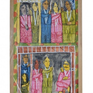 Gouache on paper scroll painting, India, Bengal