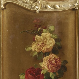A Three-Fold Vernis Martin Screen In the Louis XV Manner