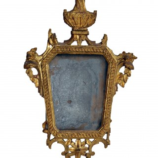 Giltwood mirror with the original glass, French, Louis XV, 18th century
