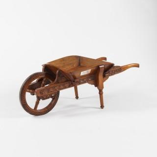 A Late 19th-Century Oak Presentation Wheelbarrow