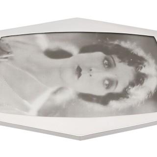 Sterling Silver Photograph Frame - Antique George V (1919)