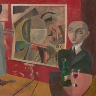 'The Private View' by Simon Quadrat PPRWA NEAC (born 1946)