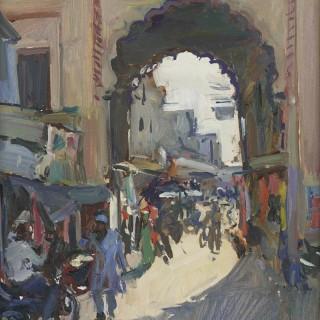 'City Gate, Bundi, Rajasthan' by Luke Martineau (born 1970)