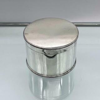 Antique George V Sterling Silver Biscuit Box Edinburgh 1922 Hamilton & Inches