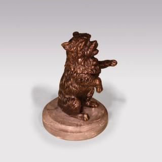 A 19th Century bronze Dog Inkwell