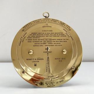 Early Twentieth Century Desk Weather Forecaster by Negretti & Zambra London