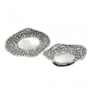 Pair of Antique Victorian Sterling Silver 9