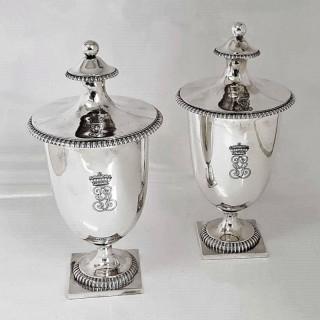 George III Silver Sugar Vases