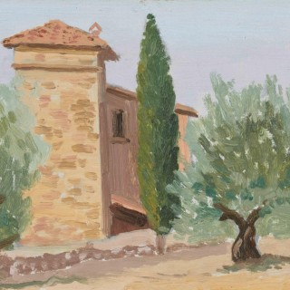 'Villa, Provence' by Luke Dillon-Mahon (1917-1997)