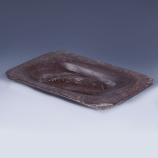 Rare Western Asiatic Carved Cosmetic Palette