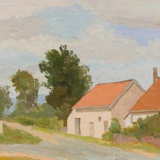 'St. Forgeot, Burgundy' by Luke Dillon-Mahon (1917-1997)