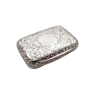 Antique Victorian Sterling Silver Vinaigrette 1856