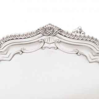 Antique Edwardian Sterling Silver Salver / Tray - 1907 - Mappin & Webb