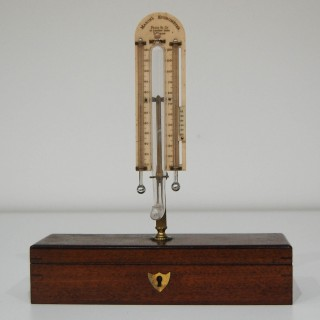 Early Victorian Cased Masons Hygrometer by Pizzi & Co, London