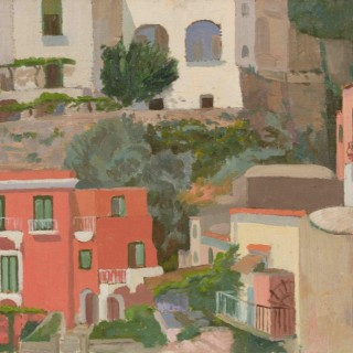 'Positano, Italy' by Luke Dillon-Mahon (1917-1997)