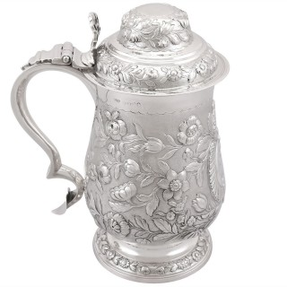 Sterling Silver Quart and a Half Tankard - Antique George IV (1820)