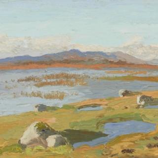 'Flood Water near Moycullen, Connemara' by Luke Dillon-Mahon (1917-1997)