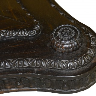 19th Century Anglo Indian Specimen wood center table.