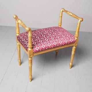 Antique Adams Style Gilded Window Seat