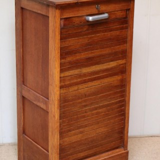 Small Proportioned French Oak Filing Cabinet