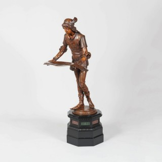 An Exhibition-Quality Carved Figure By Valentino Panciera Besarel