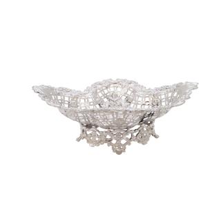 Antique Sterling Silver Pierced Bon-Bon Dish 1913