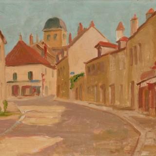 'French Village' by Luke Dillon-Mahon (1917-1997)