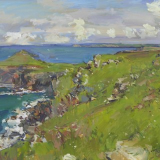 'On Pentire Point, Cornwall' by Luke Martineau (born 1970)