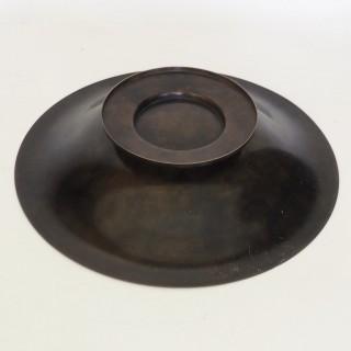 Danish Bronze Pedestal Bowl by Holger Fridericias for Ildfast, Circa 1930