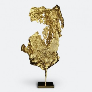Philippe Cheverny Gilded Abstract Sculpture Circa 1970