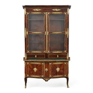 Second Empire period gilt bronze and kingwood display cabinet