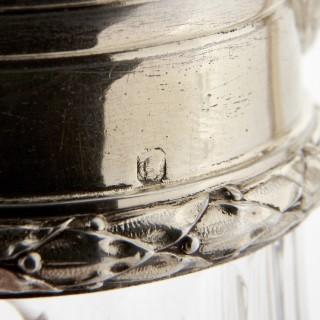 Pair of vermeil and cut glass claret jugs by Tétard