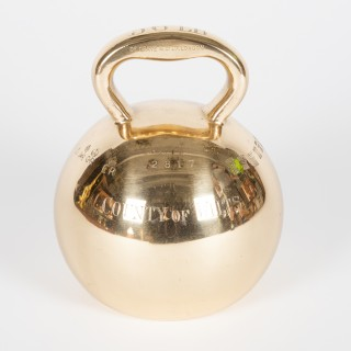 Globe weight for the County of Wiltshire dated 1905