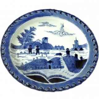 Kangxi Blue and White 'Deshima Plate