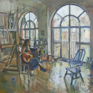 'The Guitarist' by Luke Martineau (born 1970)