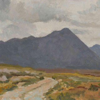 'Maumturk Mountains, County Galway, Connemara' by Luke Dillon-Mahon (1917-1997)