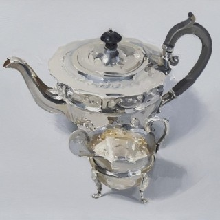 'Silver Teapot and Creamer' by Alan Kingsbury RWA (born 1960)