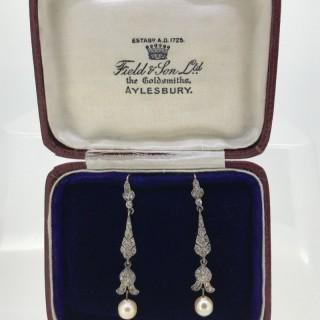 Belle Epoque Siler and Pearl Drop Earrings