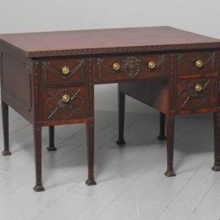 Rare Georgian Period Adams Style Mahogany Desk