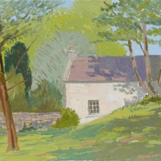 'The Yard at Ross Castle, Connemara, in May' by Luke Dillon-Mahon (1917-1997)