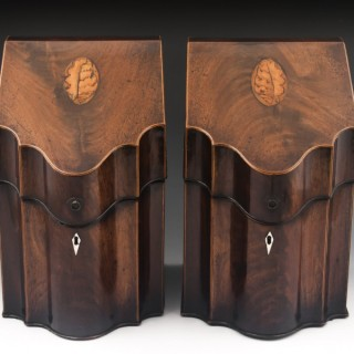 Antique Cutlery Boxes in Mahogany