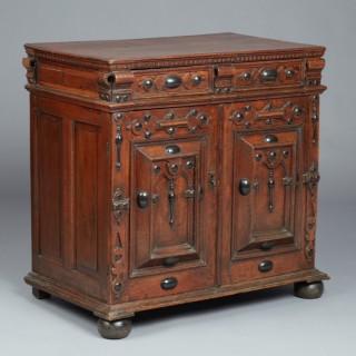 Charles I Oak & Ebonised Cabinet of Drawers, circa 1640.
