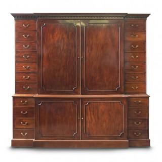Antique George III Mahogany Estate Cabinet