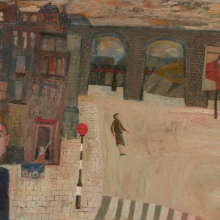 'Viaduct' by Simon Quadrat PPRWA NEAC (born 1946)