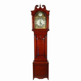 Victorian Brass Dial Grandfather Clock