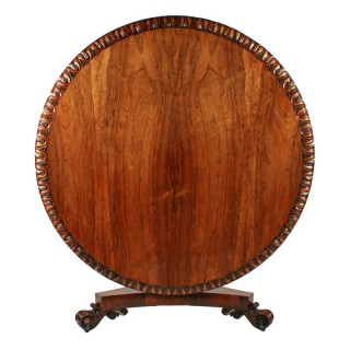 Large George IV Rosewood Centre Table