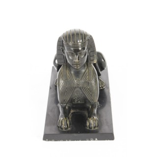 Antique Pair of French Bronzes Recumbent Sphinxes C1860 19th C