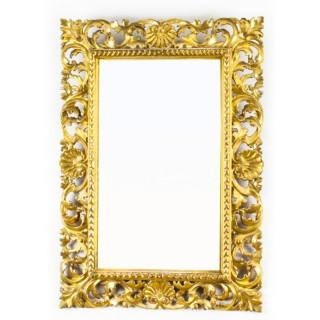 Antique Italian Giltwood Florentine Mirror 19th Century 65x46cm