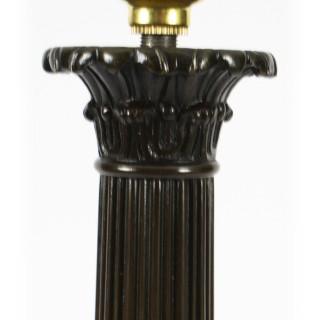 Antique Large Empire Period Bronze Table Lamp c1820 19th Century