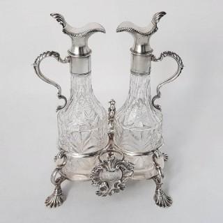 George II Silver Oil and Vinegar Set